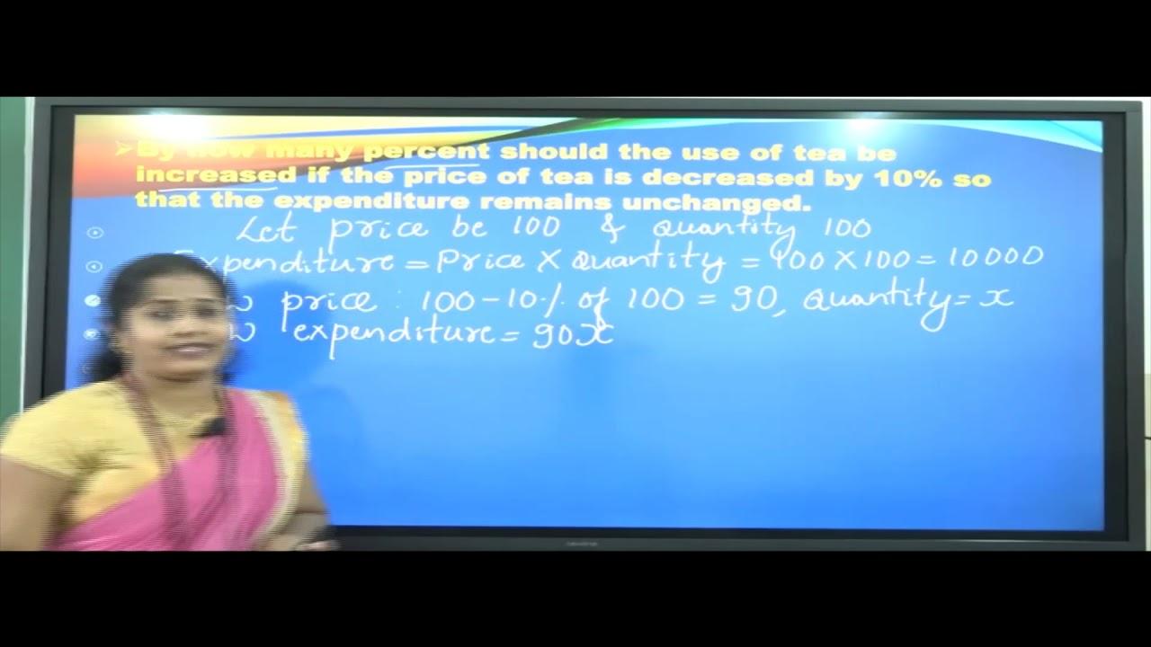 I PUC |Basic maths | Percentage, Profit and loss-02