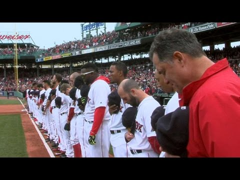 BAL@BOS: Red Sox home opener ceremonies at Fenway