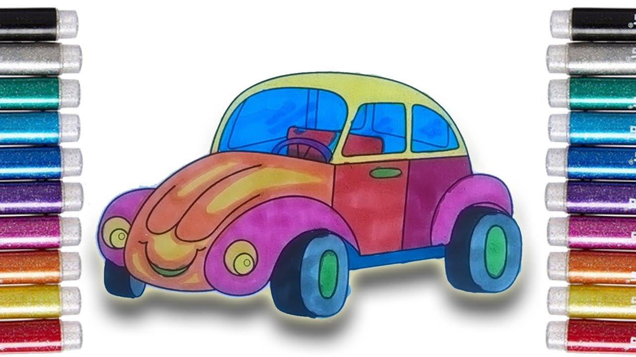 Coloring Vehicles Mewarnai Mobil Vw Kodok Dengan Spidol Untuk