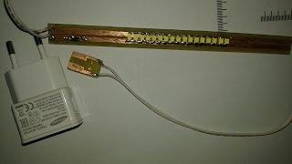 Cara buat lampu LED Pakai Charger Handphone (HP)