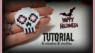 Anello Teschio per Halloween con Hama Beads - DIY Skull Ring Tutorial