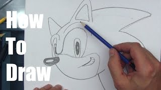 How To Draw Sonic The Hedgehog! - Part 1(Step By Step Tutorial on drawing Sonic's Head ☆Please leave a LIKE! and SUBSCRIBE ☆Share your drawings with me on INSTAGRAM: ..., 2015-03-27T23:00:01.000Z)