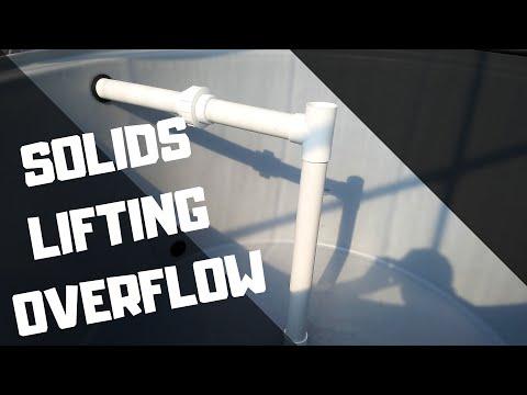 Solids lifting over flow Aquaponics (Hybrid aquaponic system)