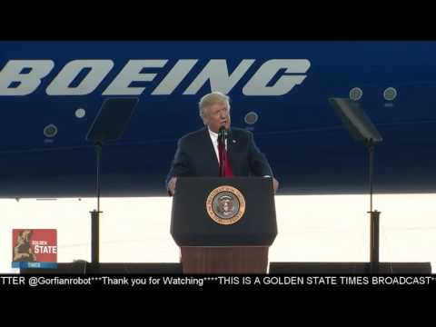 President Donald Trump Unveils New Boeing Airplane and Speaks To the American People about Jobs!!!