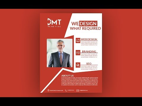 How to design business flyer in photoshop | photoshop flyer design tutorial thumbnail