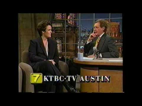 Rosie O'Donnell on the Dave Letterman Show, 1994.