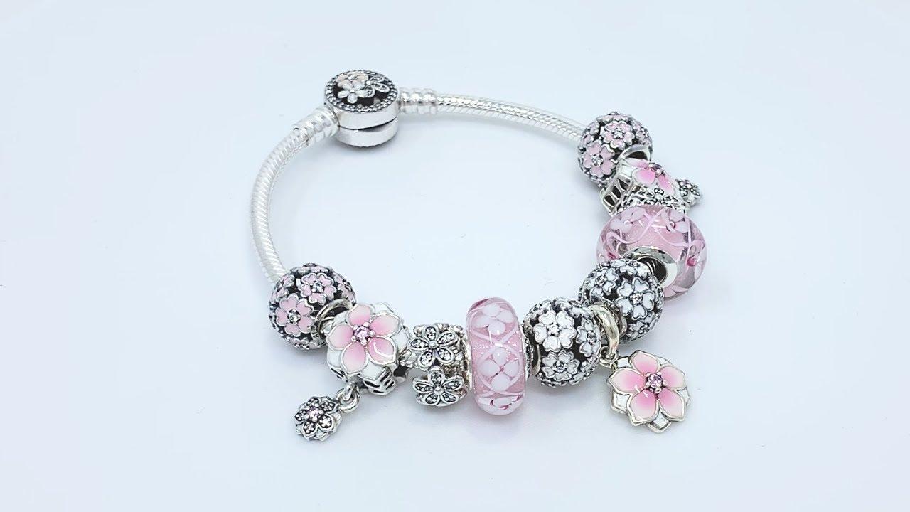 Pandora Spring Floral Charm Bracelet Design Of The Day Youtube