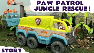 Paw Patrol Jungle Rescue Episode with Play Doh - Fun stop motion kids toys episode story TT4U
