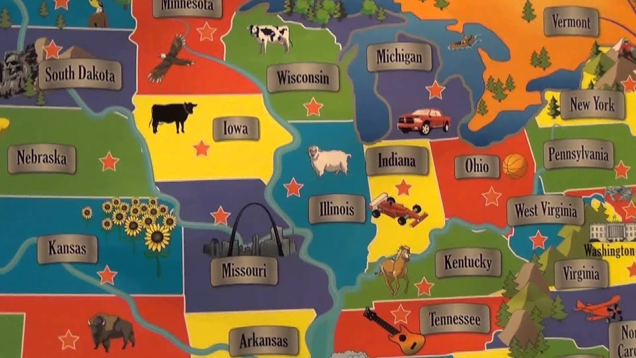 Interactive USA Map from CP Toys YouTube