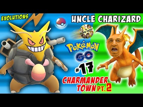 Thumbnail: UNCLE CHARIZARD! Pokemon Go CRAZY Evolutions in CHARMANDER TOWN pt. 2 (FGTEEV Part 17)