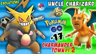 uncle charizard pokemon go crazy evolutions in charmander town pt 2 fgteev part 17
