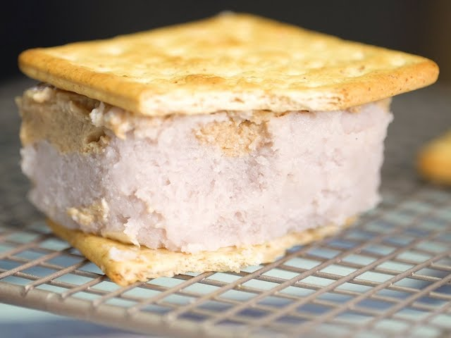 【甜點食譜】濃純香古早味冰品!芋頭花生冰磚 Taro Ice and Peanut Ice