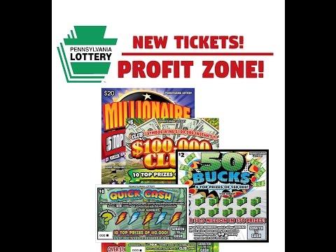 NEW: PA Lottery $20/$5/$2/$1 PA Lottery Tickets - PROFIT ZONE! - Scratchers