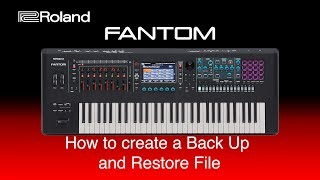 Roland Fantom - How to create a BackUp and Restore File