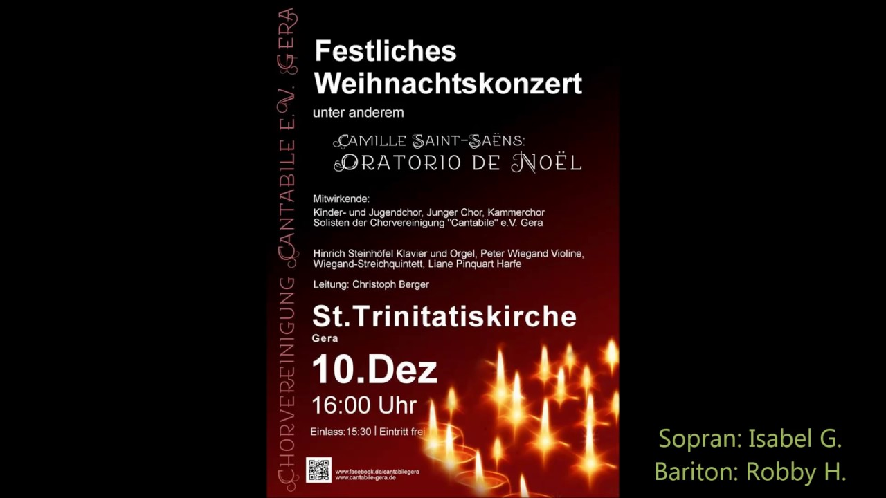 Weihnachtsoratorium Saint Saens
