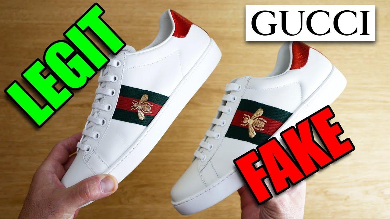 pretty nice 54dbd a2a8c LEGIT vs FAKE Gucci Ace. Originali & False