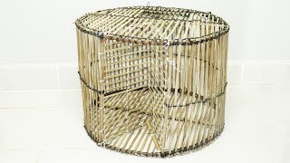We Survival - Amazing DIY Round Fish Trap From Bamboo