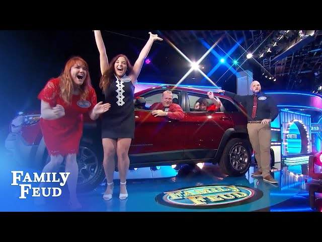 VROOM VROOM! The Crovettos win the car!   Family Feud
