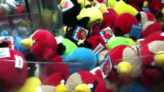 Double angry birds Claw Machine WIN!