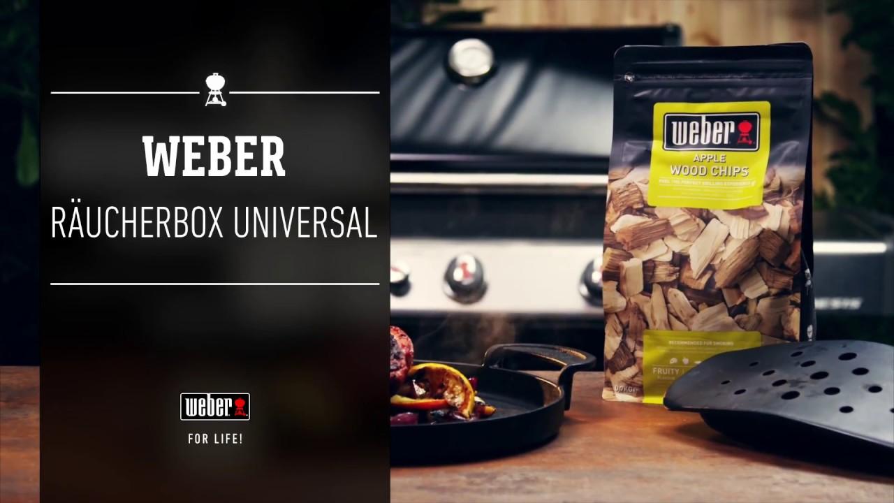 Weber Elektrogrill Räuchern : Weber stephen grill räuchern räucherbox universal youtube
