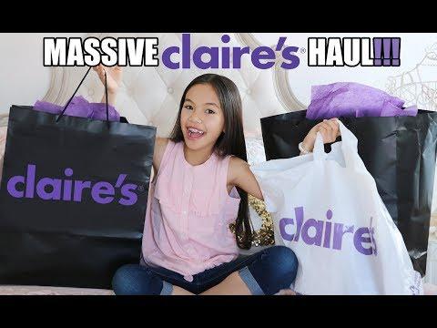 MASSIVE CLAIRE'S HAUL! SECRET GIVEAWAY!!!