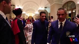 Mondial 2018: l'équipe du Brésil arrive en Russie (vidéo)