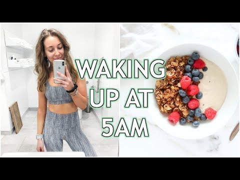 5AM Healthy Morning Routine | productive, workout, breakfast