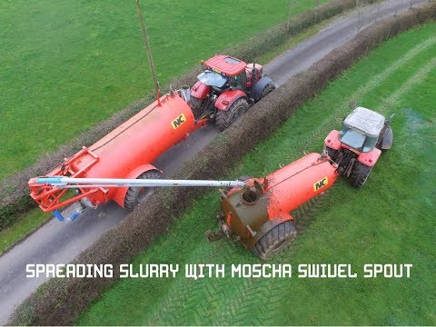 Slurry Spreading With A Moscha Swivel Spout