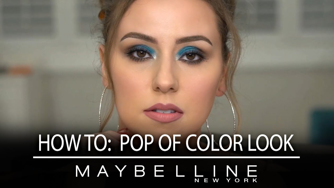 How to: Pop of Color look με μπλε σκιά και πώς θα το πετύχεις | Maybelline NY Greece