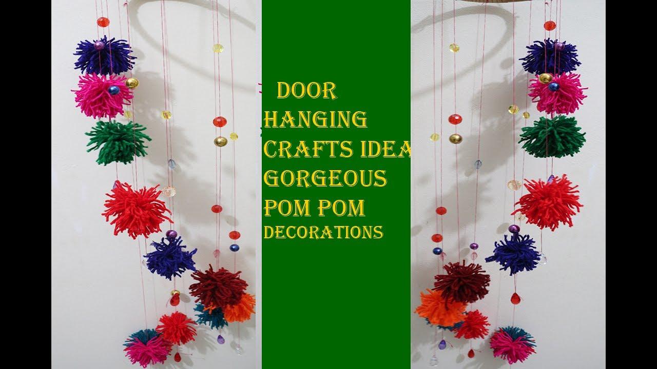 diy new door hanging crafts ideas gorgeous pom pom to make a pom pom maker tutorial