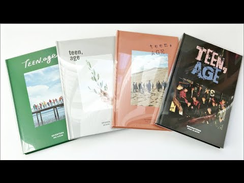 [UNBOXING] Seventeen 세븐틴 2nd Full Album Teen, Age (All 4 Versions)