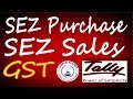SEZ Purchase, SEZ Sales with GST in Tally ERP 9 Part-24|GST Tally SEZ Invoicing Entries