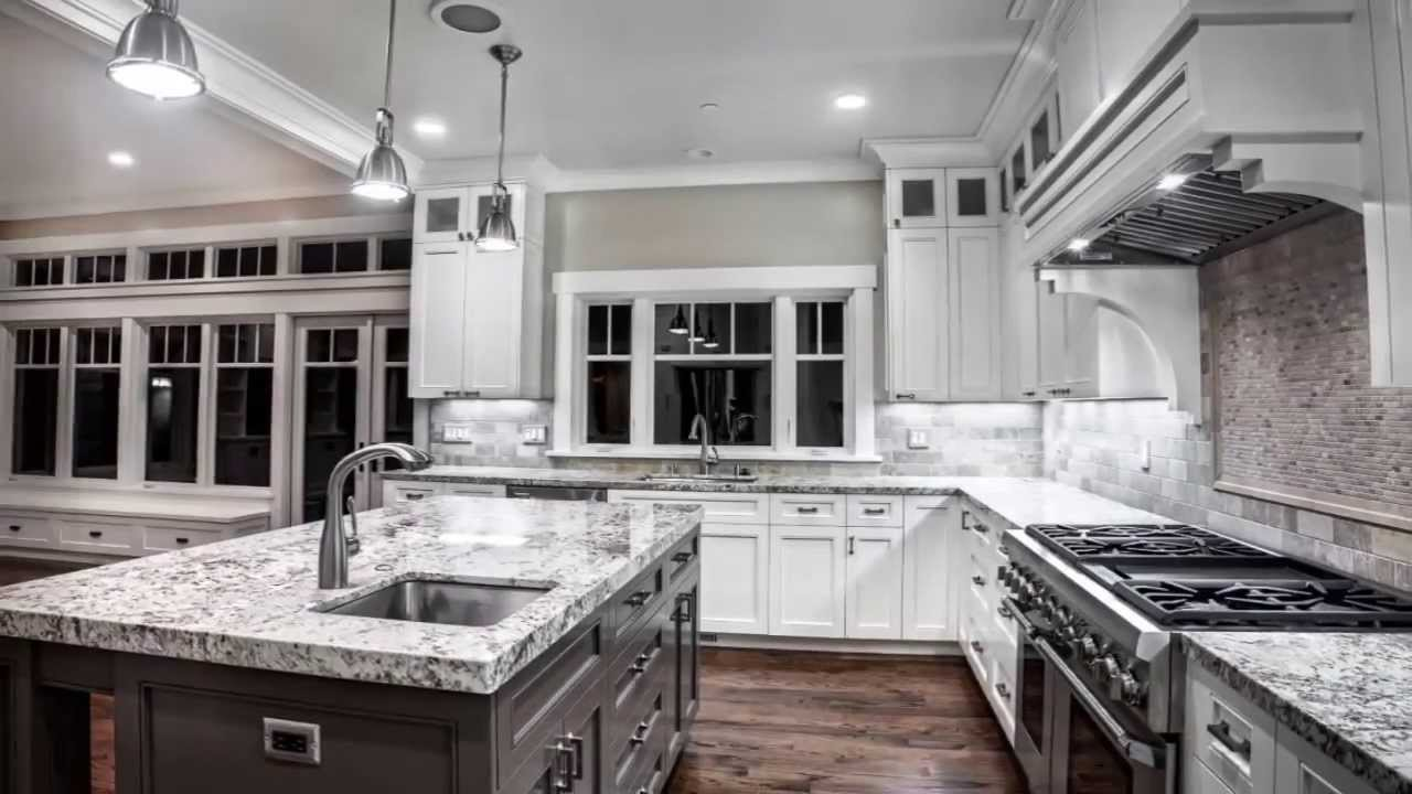 Gray kitchen ideas youtube for Kitchen designs grey