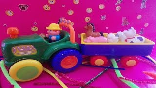 Farm Tractor With Animals Toy