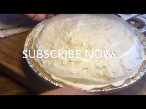 034| PINEAPPLE CREAM CHEESE PIE WITH A GRAHAM CRACKER CRUST