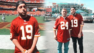 TOOK MY DAD TO HIS FIRST NFL GAME! Redskins vs Cowboys Vlog