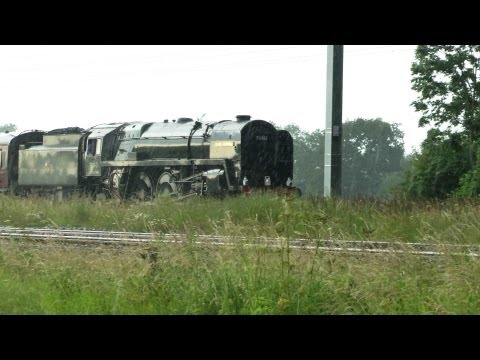"""70013 """"Oliver Cromwell"""" on the Jolly Fisherman 13/07/2013"""