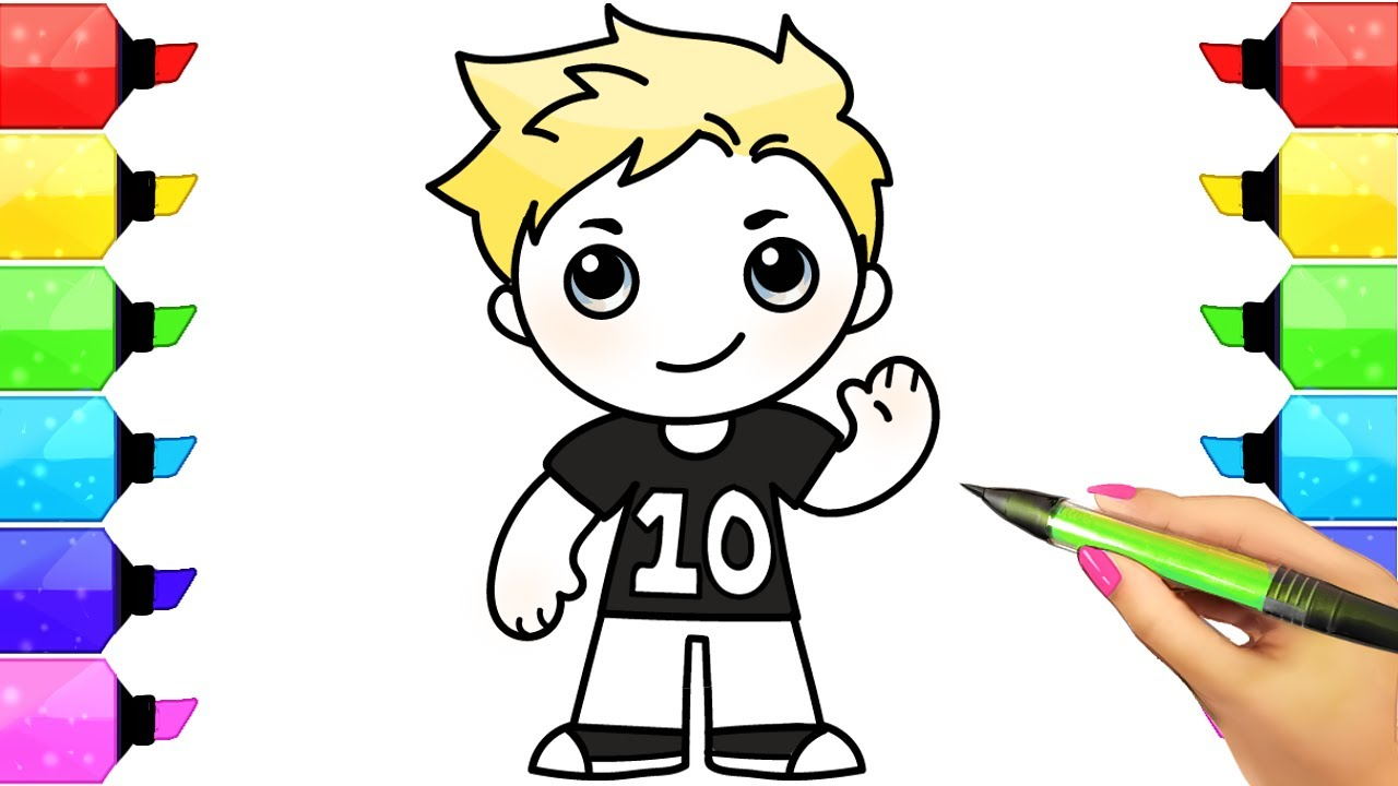 how to draw jake paul coloring pages easy team 10 jake paul