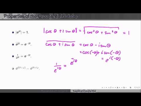 Week1Lecture3: Polar representation of complex numbers