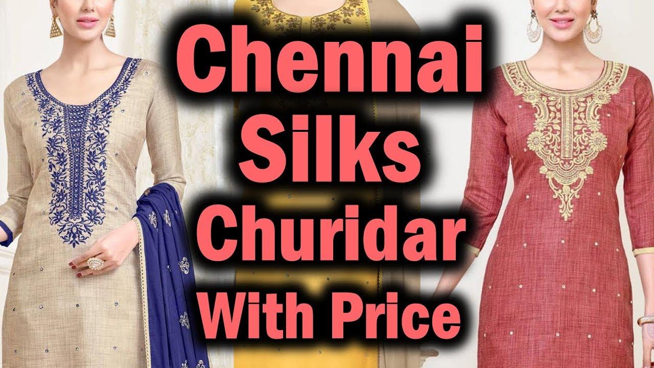 Chennai Silks Churidar Materials Latest Collection Youtube