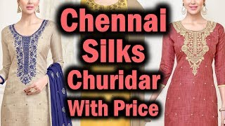 Chennai Silks Churidar Materials Latest Collection