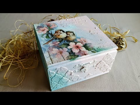 Decoupage for beginners - Decoupage wooden box - How to make a decoupage box - Shabby Chic box