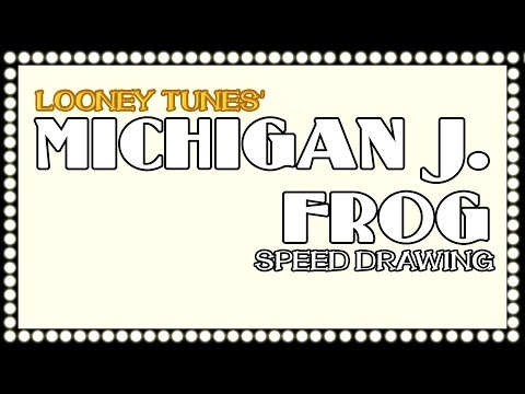MICHIGAN J. FROG (Looney Tunes)- speed drawing