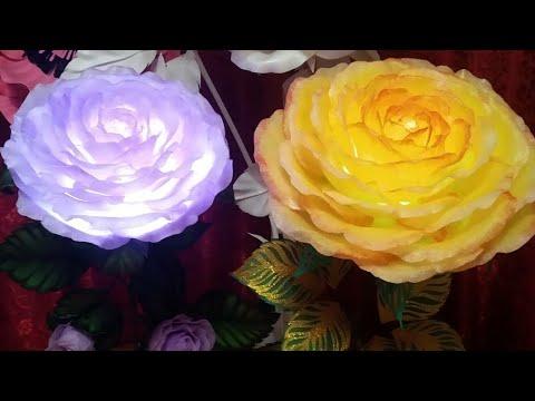 МК Роза из НПЭ. Торшер. Часть 1. Тонировка лепестков, стебель, листья, проводка.