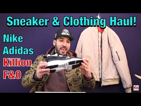 December Clothing & Sneaker Haul!! Nike - Adidas - Frank & Oak - Killion - Kith - Levi's