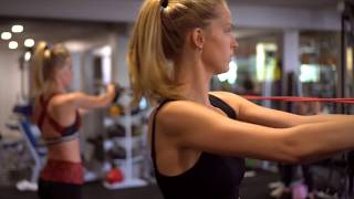 Model workout w/ Abby Champion & Baskin Champion for toning - partner home workout