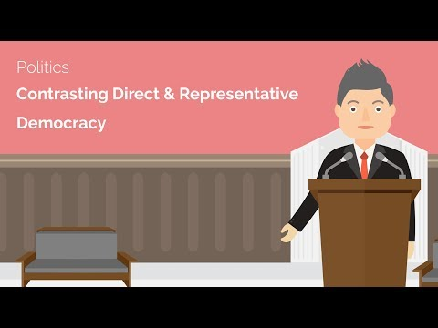Contrasting Direct and Representative Democracy - A-Level Politics Revision Video - Study Rocket