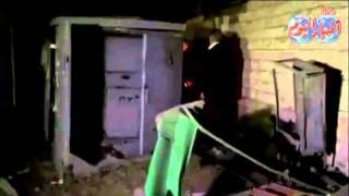 اثار انفجار محول كهرباء بمنشأة  ناصر