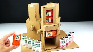 Cardboard crafts - DIY Tic Tac Dispenser From cardboard with 3 Different Taste at Home
