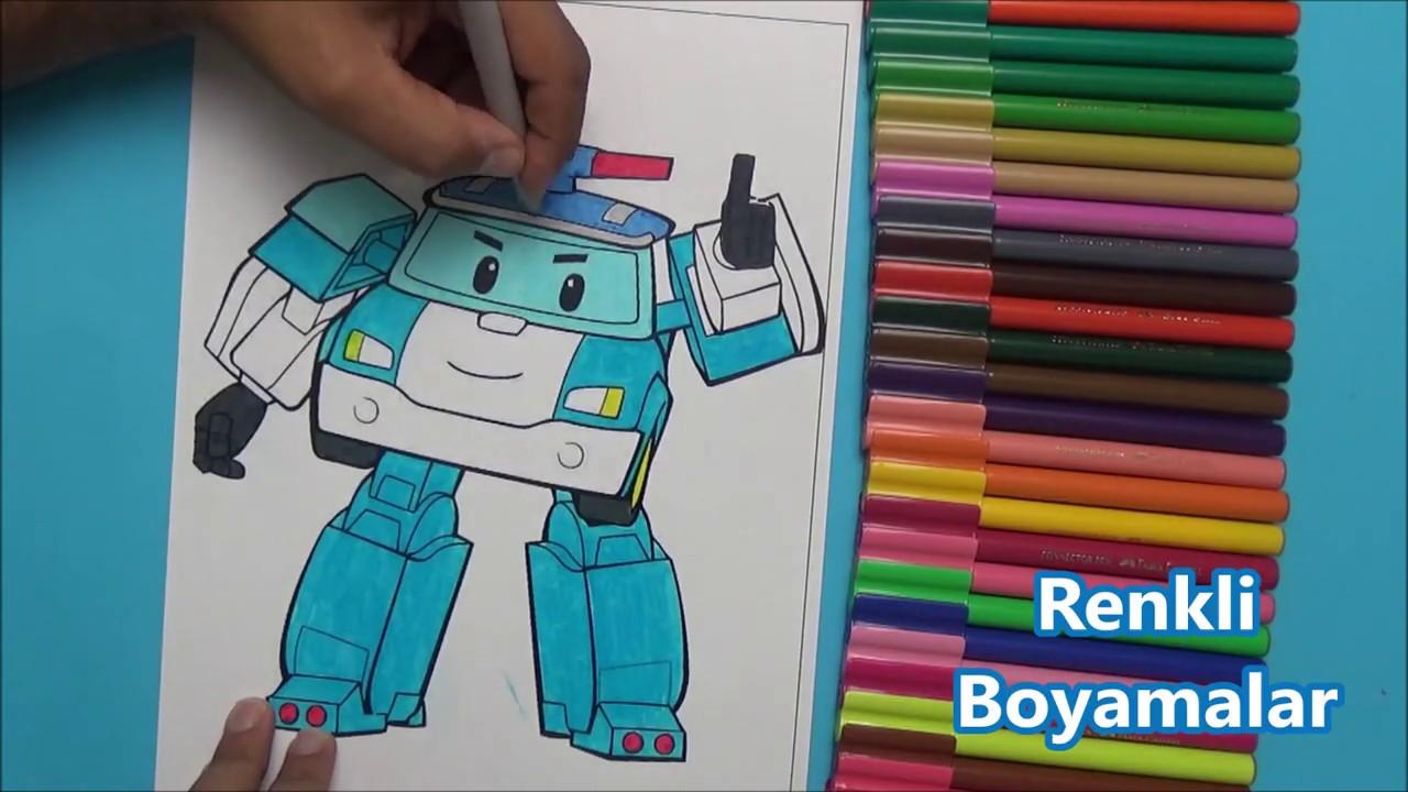 Robocar Poli Boyama Sayfasi Youtube